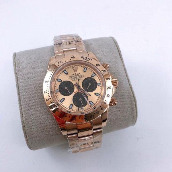 Réplica de relógio Rolex Daytona Rosê/Dourado