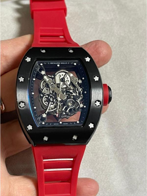 Réplica de relógio Richard Miller Automático Vermelho