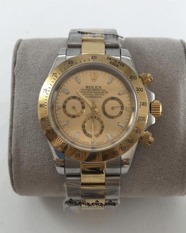 Réplica de relógio Rolex Daytona Misto-Dourado e Prata 4