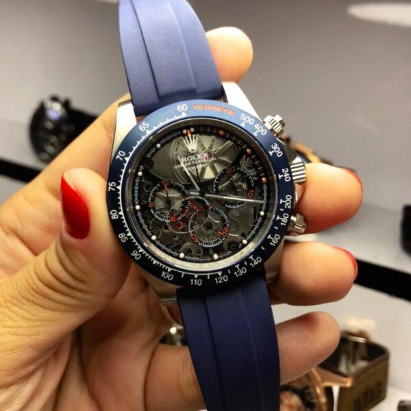 Réplica de relógio Rolex Daytona Artisans Azul