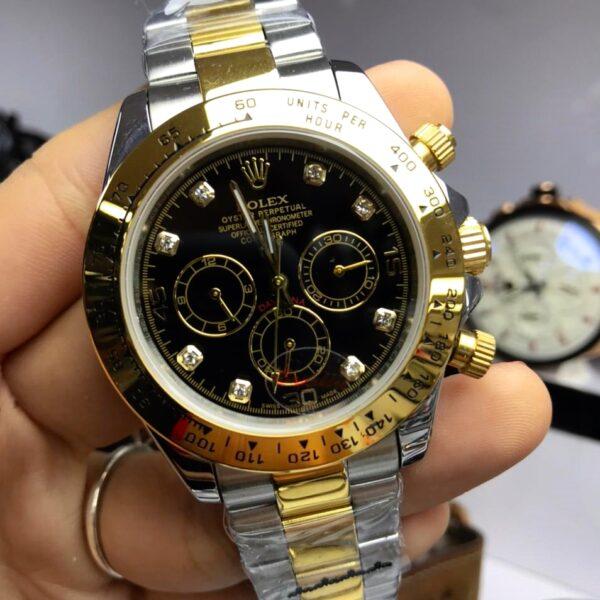 Réplica de relógio Rolex Daydate Pedra-Preto