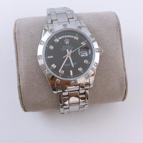 Réplica de relógio Rolex Daydate Pedra 2 Preto 2