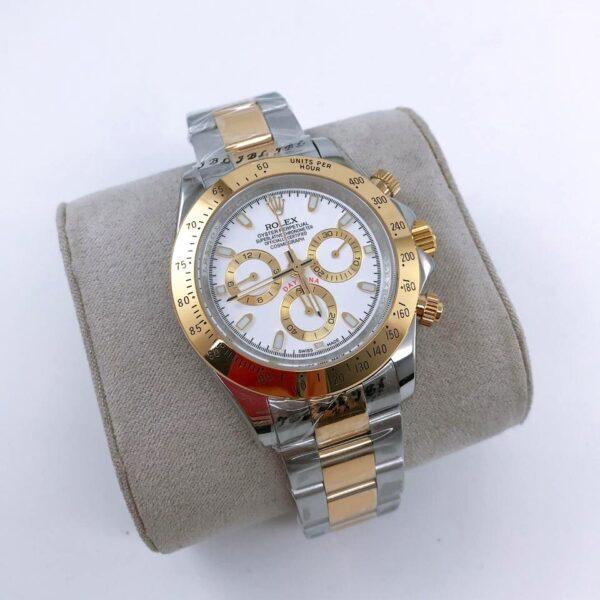 Réplica de relógio Rolex Daytona Misto-Dourado e Prata 2