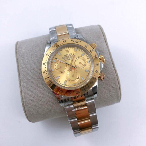 Réplica de relógio Rolex Daytona Misto-Dourado e Prata 3