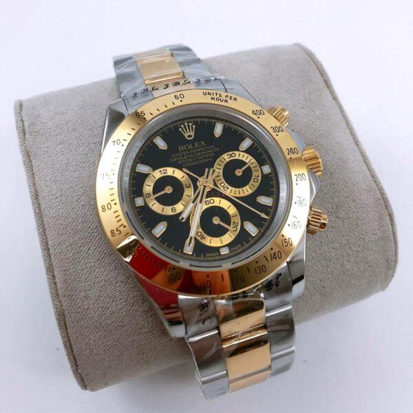 Réplica de relógio Rolex Daytona Misto-Dourado e Prata