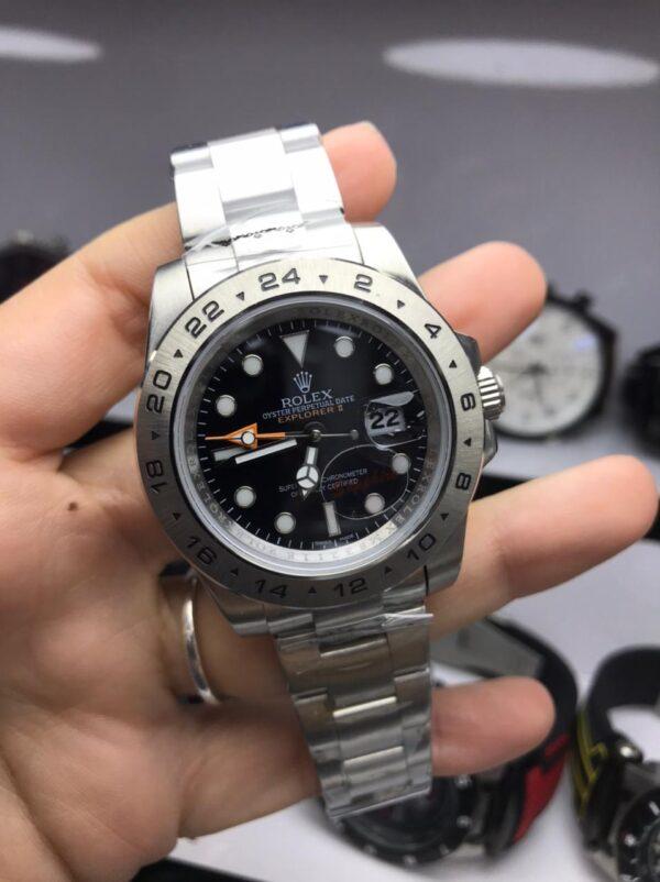 Réplica de relógio Rolex GMT Explorer II – Preto