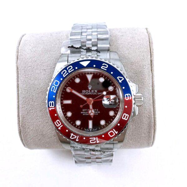 Réplica de relógio Rolex GMT Jubilee Azul/Vermelho