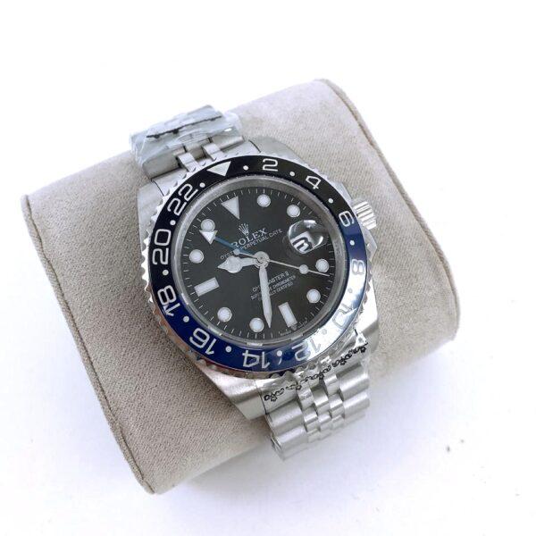 Réplica de relógio Rolex GMT Jubilee Preto/Azul