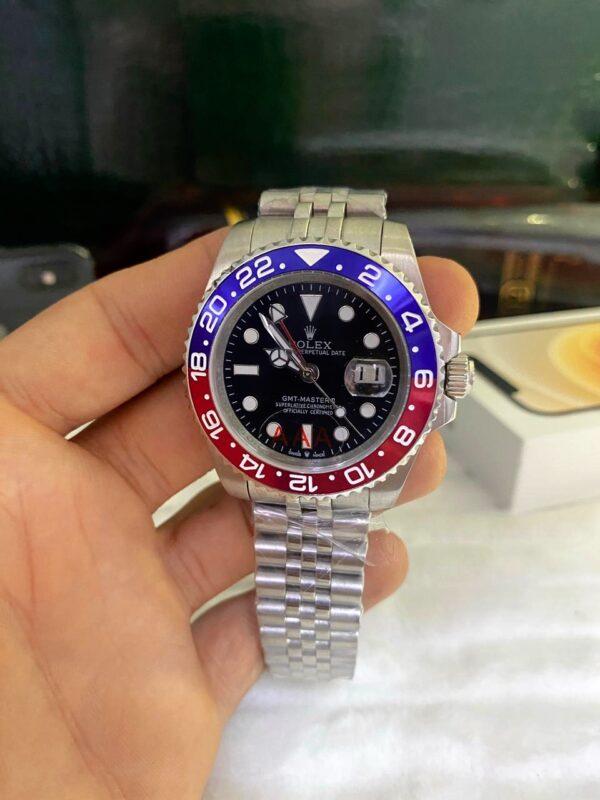 Réplica de relógio Rolex GMT Jubilee Azul/Vermelho 2