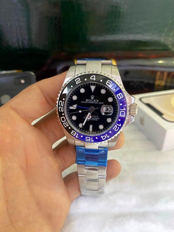 Réplica de relógio Rolex GMT Prata 5