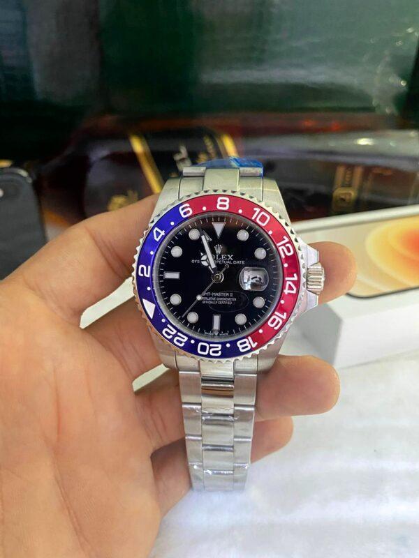 Réplica de relógio Rolex GMT Prata 4