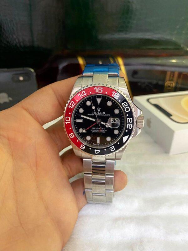 Réplica de relógio Rolex GMT Prata 3