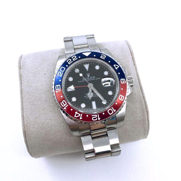 Réplica de relógio Rolex GMT Prata 2