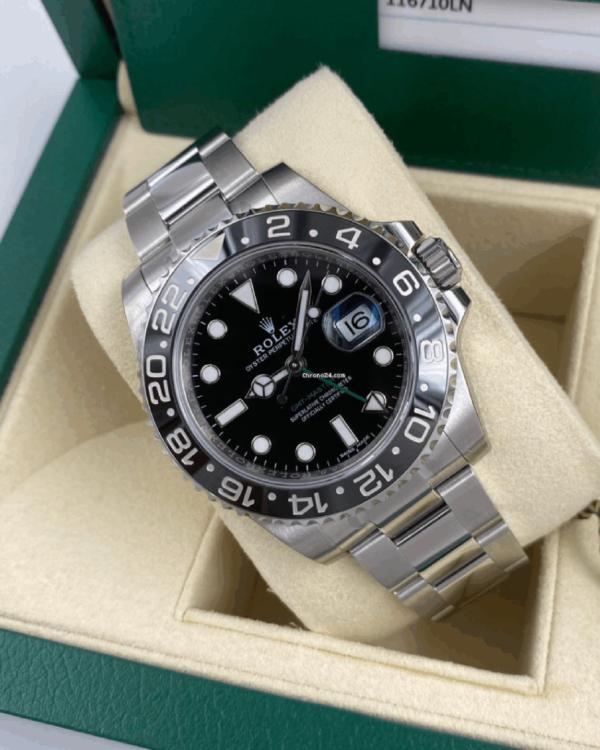 Réplica de relógio Rolex GMT Prata