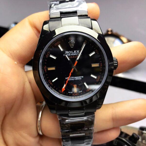 Réplica de relógio Rolex Milgaus Preto
