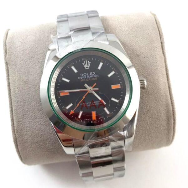 Réplica de relógio Rolex Milgaus Prata