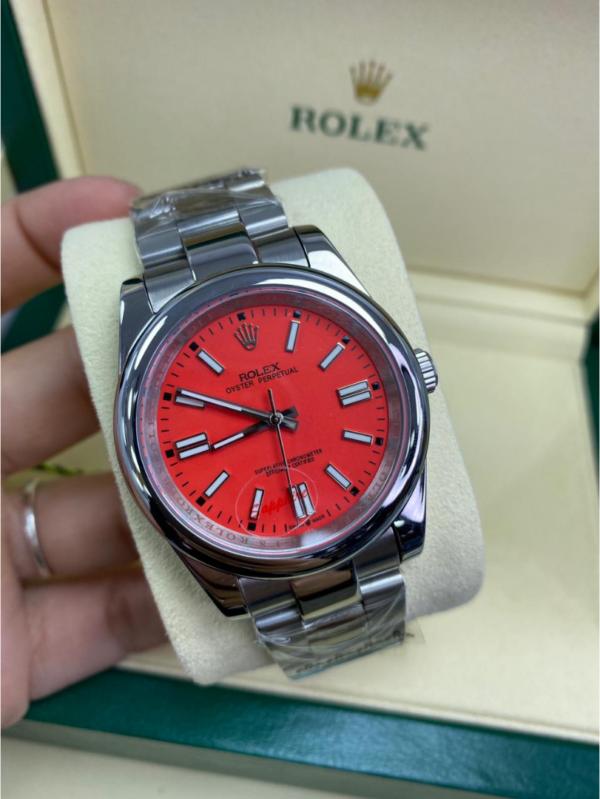 Réplica de relógio Rolex Oyester Vermelho