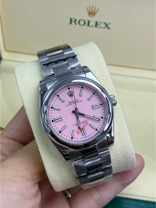 Réplica de relógio Rolex Oyester Rosa