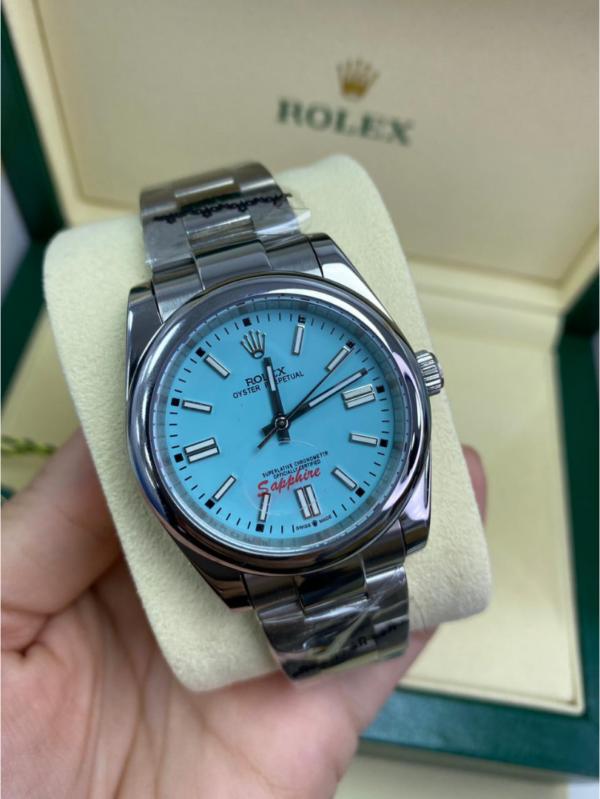 Réplica de relógio Rolex Oyester Azul