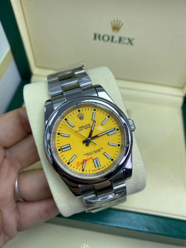 Réplica de relógio Rolex Oyester Amarelo
