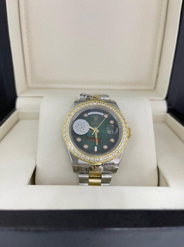 Réplica de relógio Rolex Pedra Fundo Verde