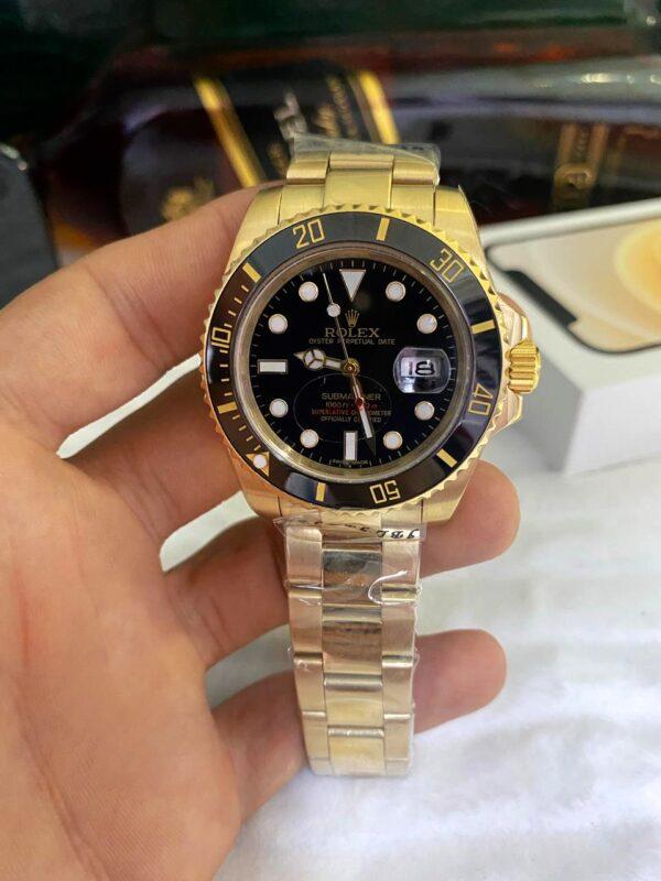 Réplica de relógio Rolex Submariner – Dourado/preto