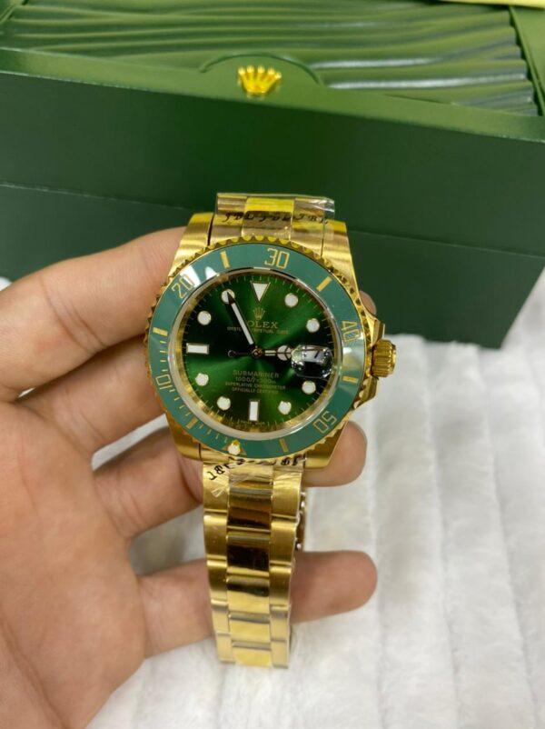 Réplica de relógio Rolex Submariner – Dourado/verde