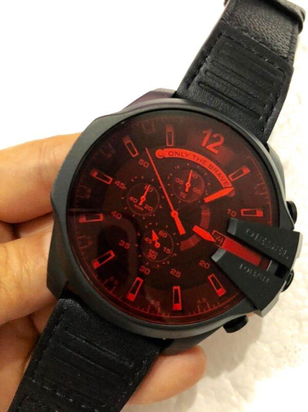 Réplica de relógio Diesel 10 Bar Borracha- Vermelho/Preto