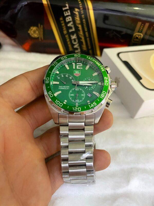 Réplica de relógio Tag Heuer F1 Aço – Prata/Verde
