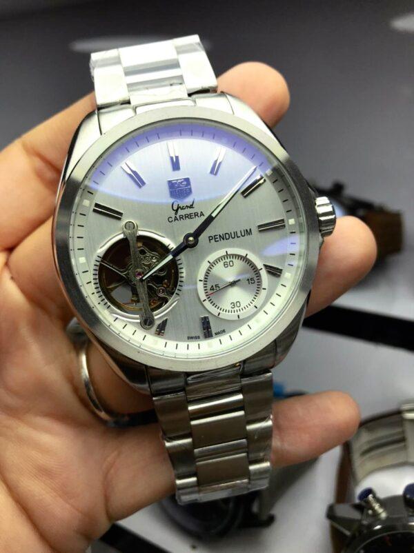 Réplica de relógio Tag Heuer Pendulum – Prata/Branco