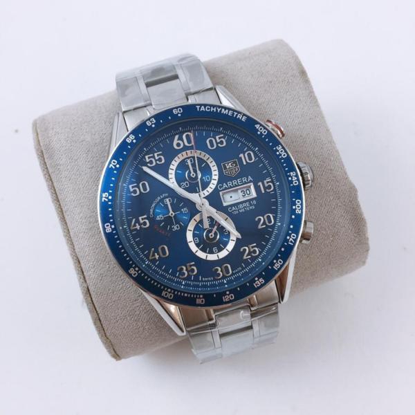Réplica de relógio Tag Heuer Calibre 16 Cerâmica – Prata/Azul