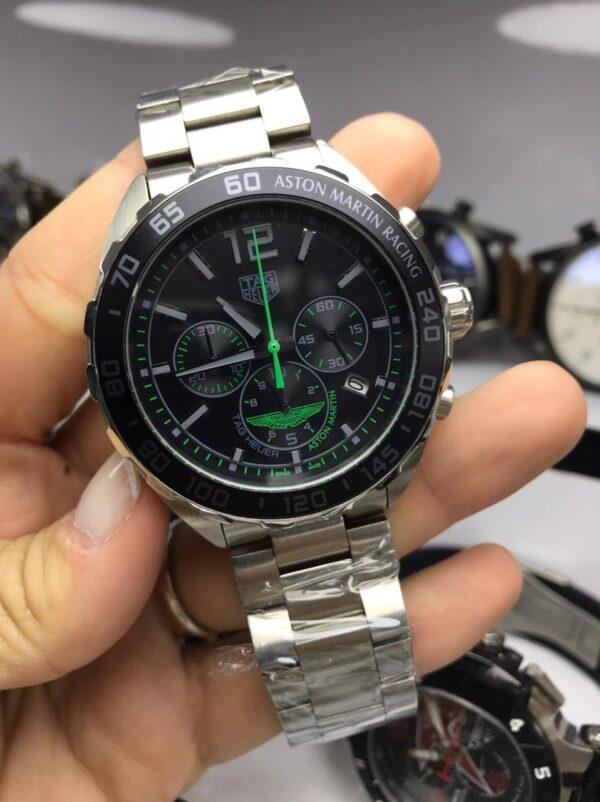 Réplica de relógio Tag Heuer Aston Martin – Prata/Verde