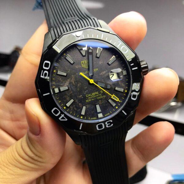 Réplica de relógio Tag Heuer Aquaracer- Preto/Amarelo