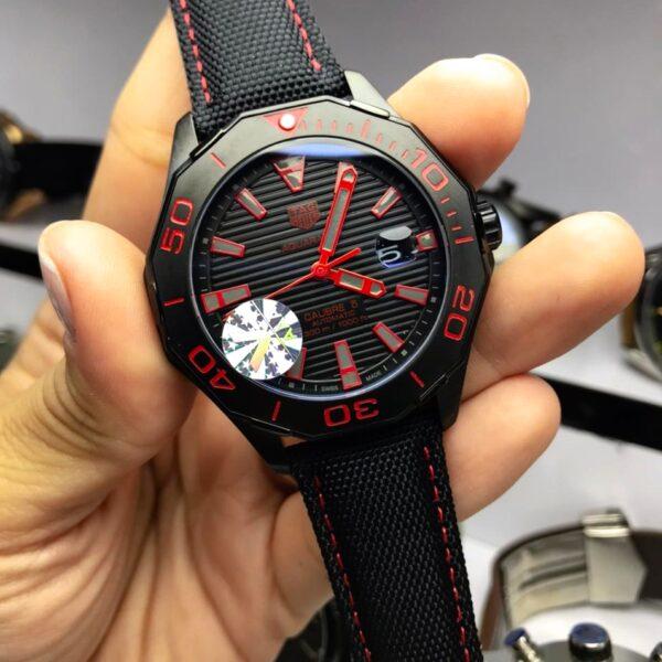 Réplica de relógio Tag Heuer Aquaracer – Preto/Vermelho