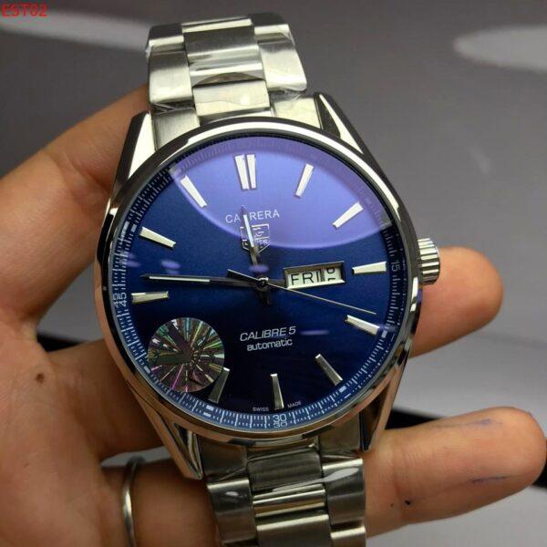 Réplica de relógio Tag Heuer Calibre 5 Aço – Azul/Prata