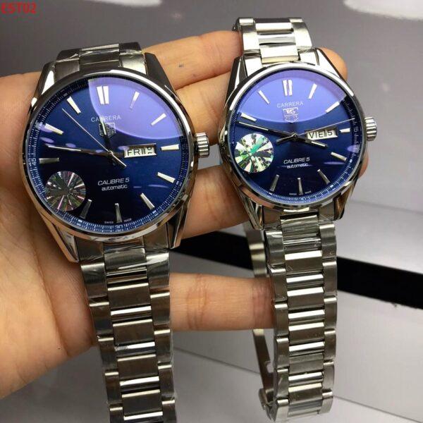 Réplica de relógio Tag Heuer Calibre 5 Aço – Azul/Prata 2