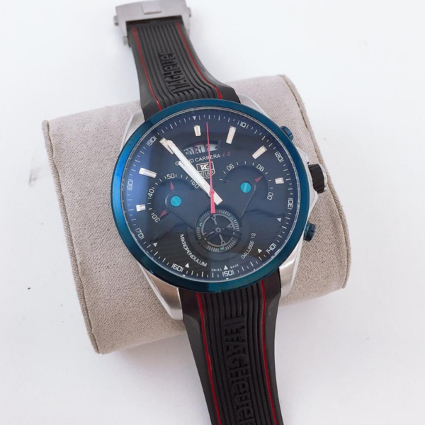 Réplica de relógio Tag Heuer Grand Carrera Borracha – Azul