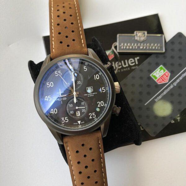 Réplica de relógio Tag Heuer Pulseira de Couro – Marrom/Preto