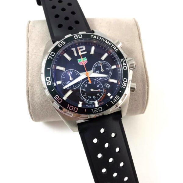 Réplica de relógio Tag Heuer Formula 1 Borracha – Preto/Prata