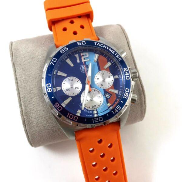 Réplica de relógio Tag Heuer Formula 1 Borracha – Laranja/Azul