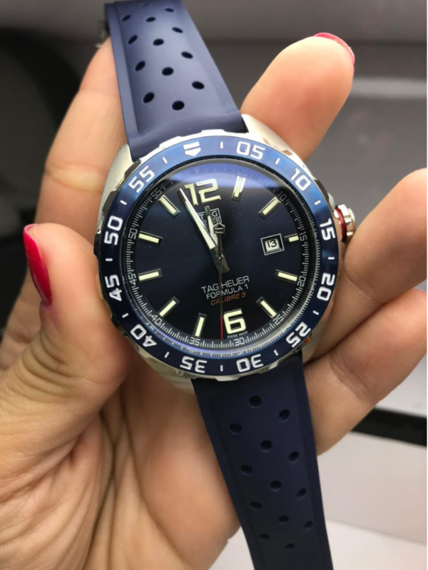 Réplica de relógio Tag Heuer Formula 1 Borracha – Azul