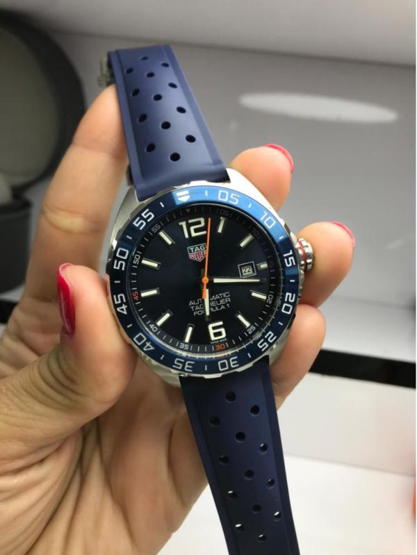 Réplica de relógio Tag Heuer Formula 1 Borracha – Azul/Preto