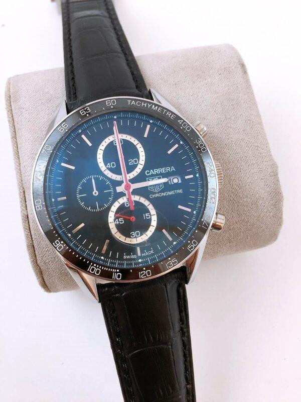 Réplica de relógio Tag Heuer Calibri 16 Couro – Azul/Black