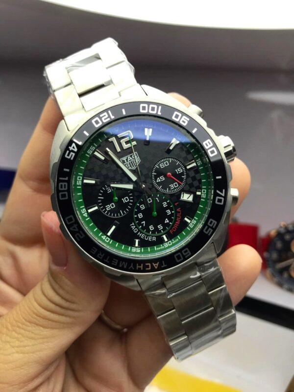 Réplica de relógio Tag Heuer Aço – Prata/Verde