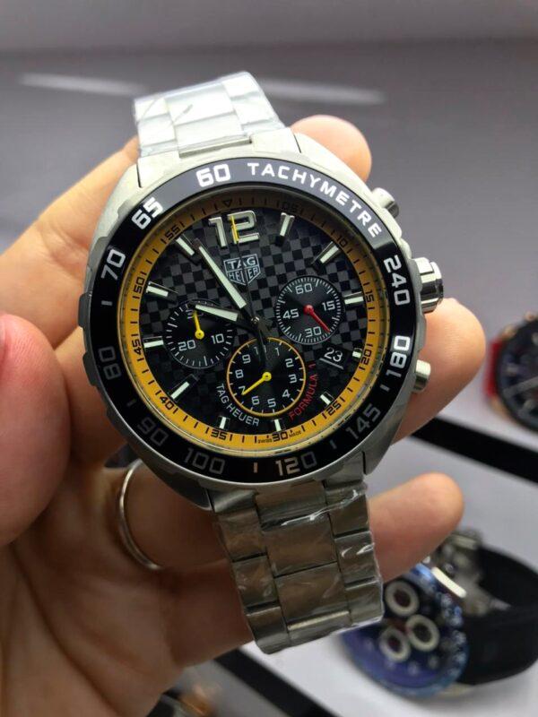 Réplica de relógio Tag Heuer Aço – Prata/Amarelo
