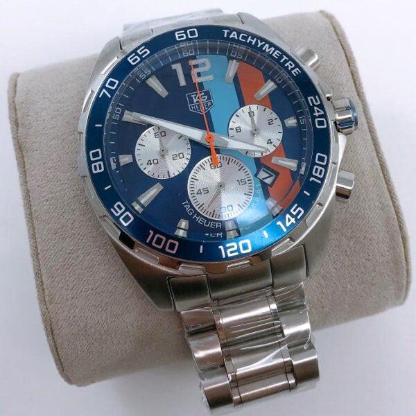 Réplica de relógio Tag Heuer Indy Aço – Prata/Azul