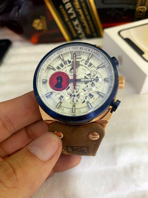 Réplica de relógio Tag Heuer John Couro – Branco/Azul