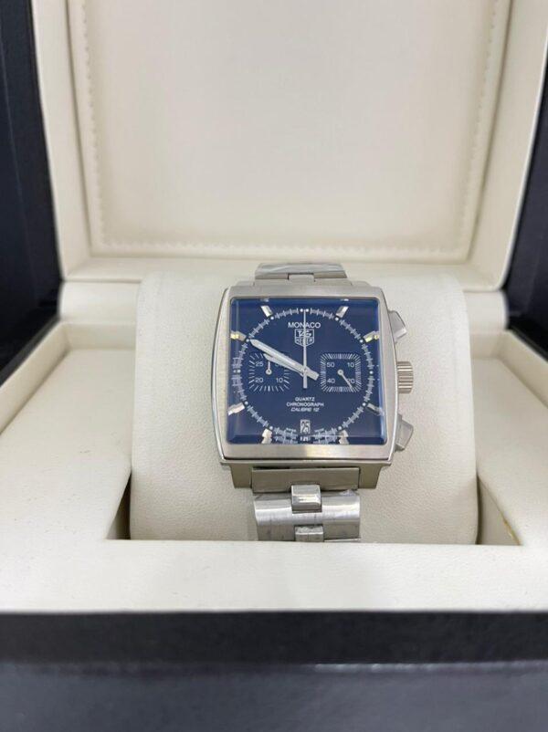 Réplica de relógio Tag Heuer Monaco Aço – Azul