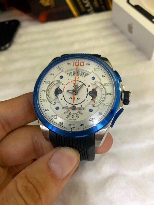 Réplica de relógio Tag Heuer Mercedes Benz SLZ – Branco/Azul
