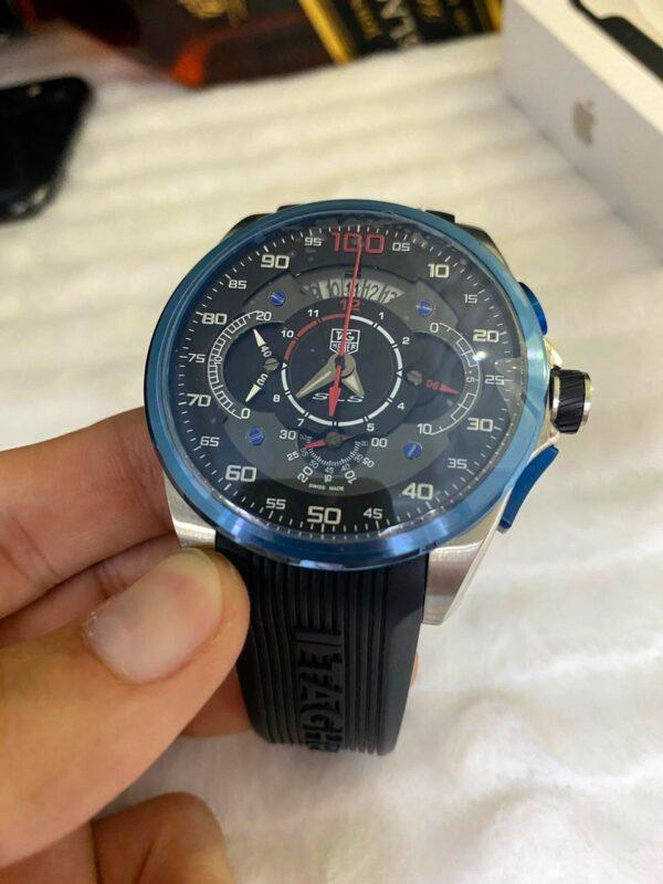Réplica de relógio Tag Heuer Mercedes Benz SLZ – Azul/Preto